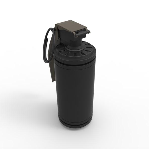 3d model of grenade flash