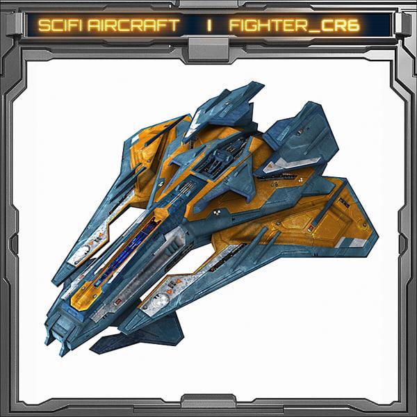 3d scifi model