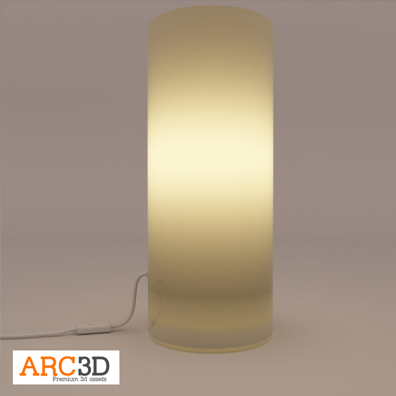 3d glass lamp model