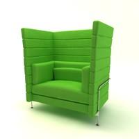 alcove sofa 3d model