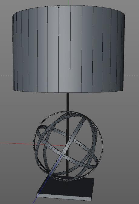 armillary sphere lamp 3d 3ds