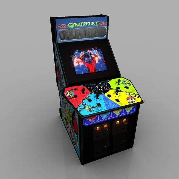 ガントレットアーケードゲーム3Dモデル - TurboSquid 731815