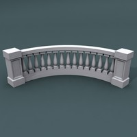 3d max curve balustrade bend