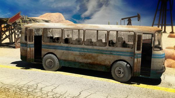 rigged bus obj