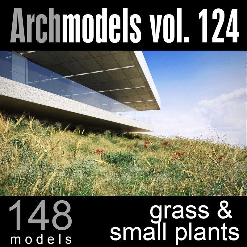 archmodels vol 124 plants 3d c4d