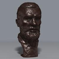 maya bronze bust