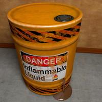 3d model of leaky metal barrel