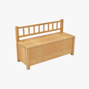 child room bench model