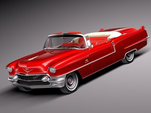 3d v8 luxury convertible cadillac model