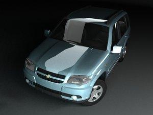 3d model russian chevrolet niva