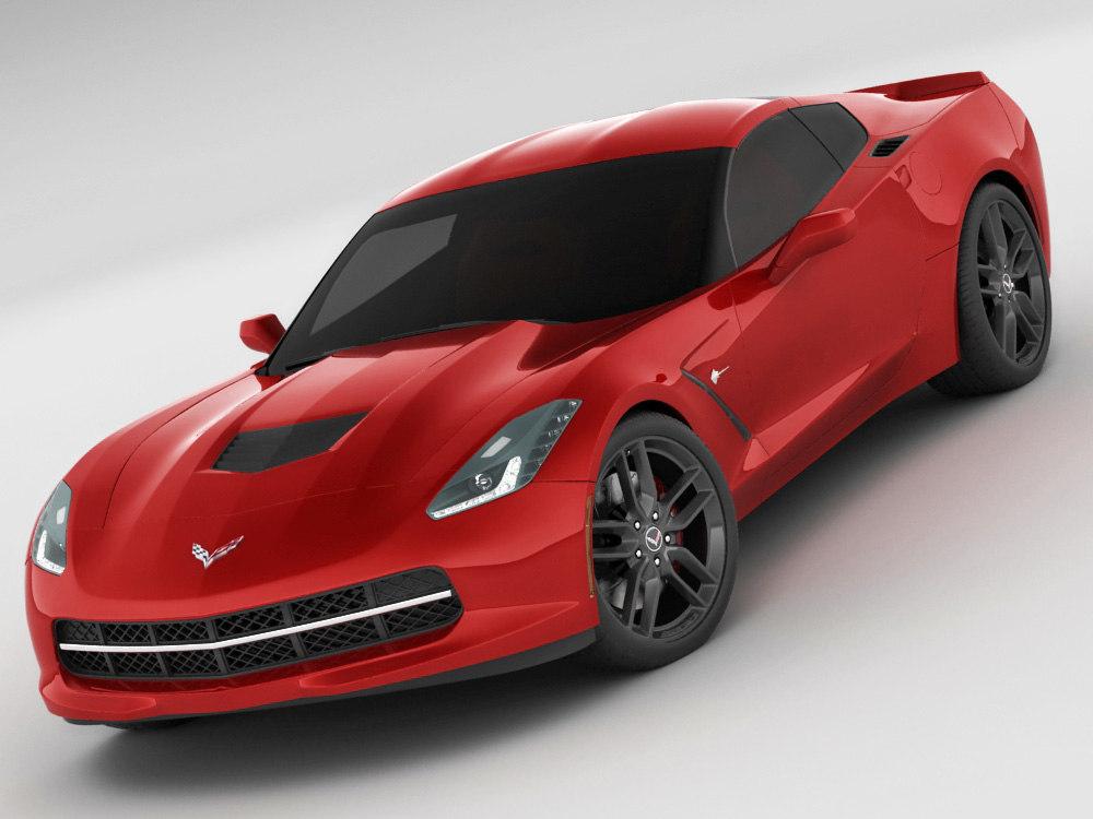 3d chevrolet corvette stingray model