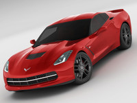 3d chevrolet corvette stingray model
