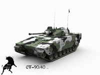 cv-90 40 swedish winter 3d model