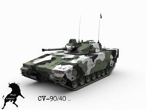 cv-90 40 swedish winter 3d model