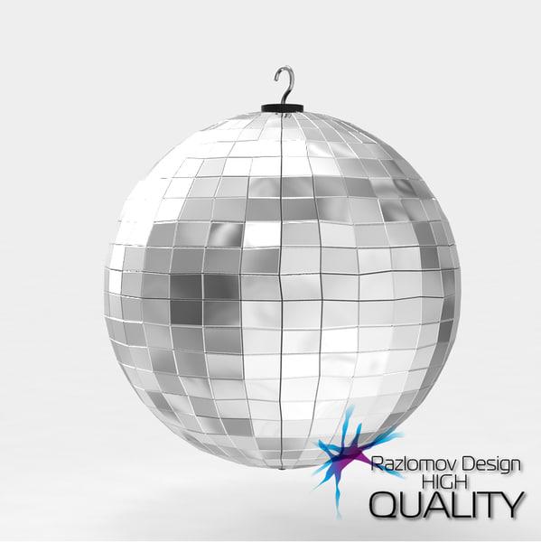 3d realistic disco lights model