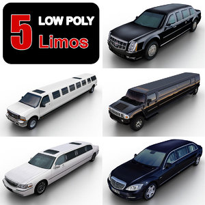 3d 3ds limousines limo