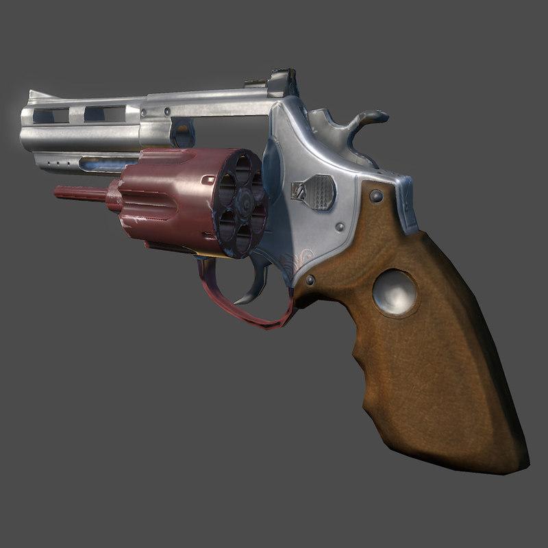 3d magnum revolver