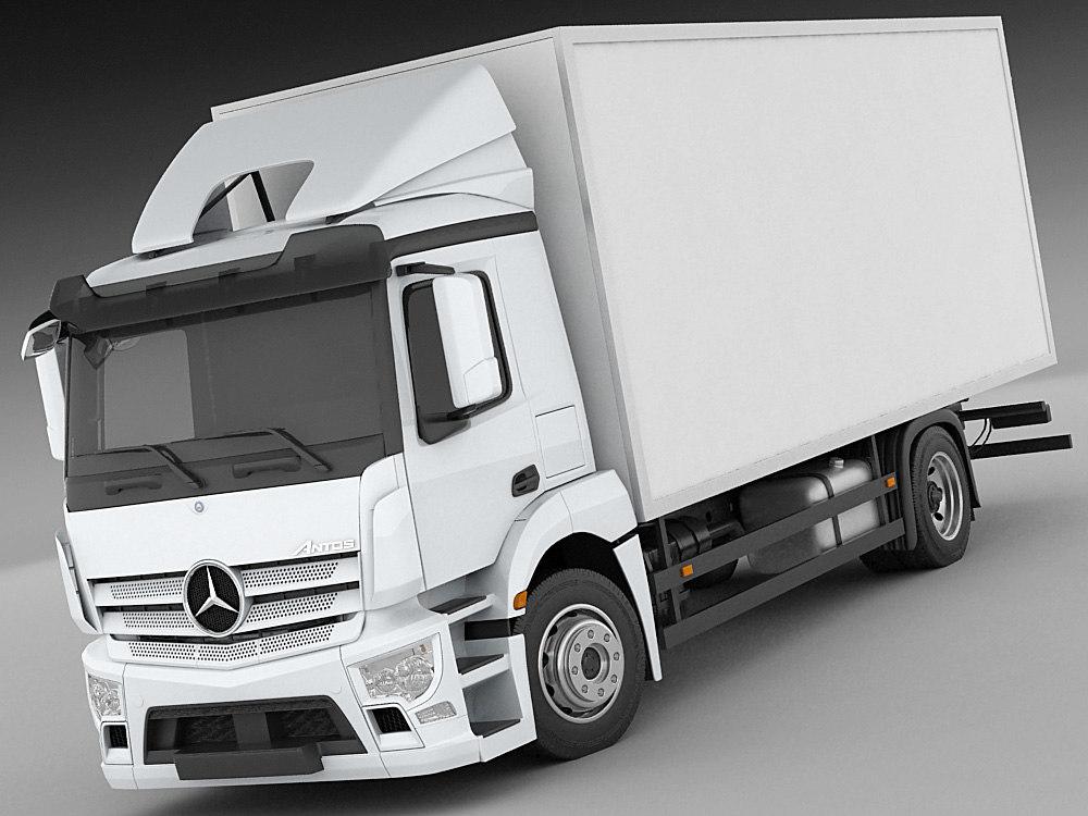 mercedes antos truck 3d model