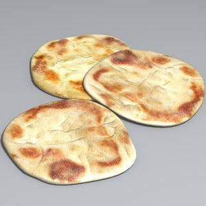 3d naan bread model