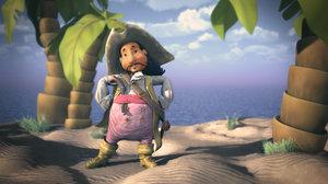 3d pirate cartoon character model