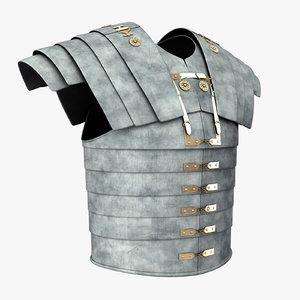roman soldier body armor obj