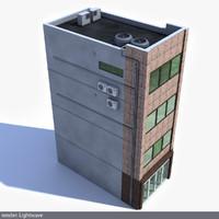 3d lwo modern japan building