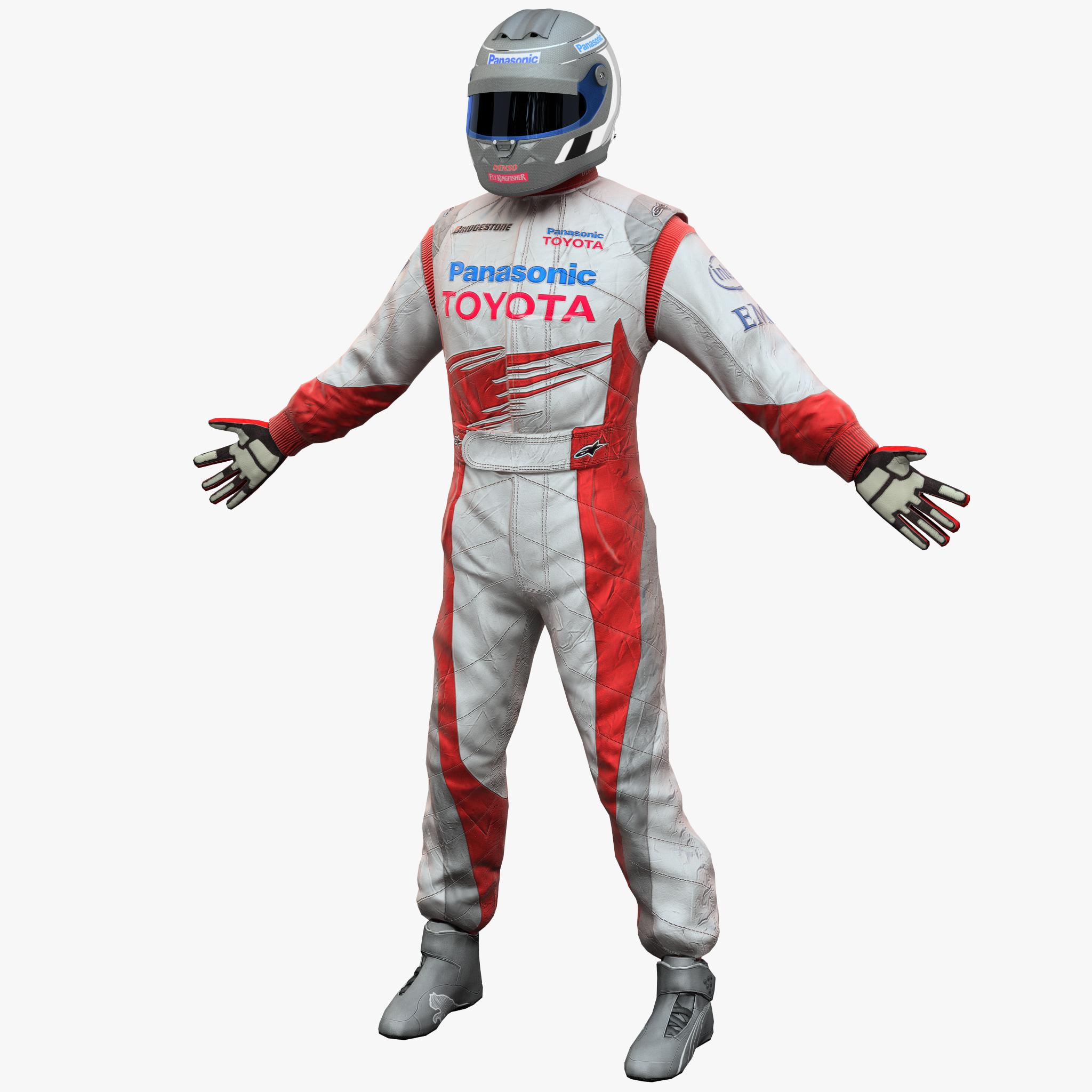 3d racing driver toyota model
