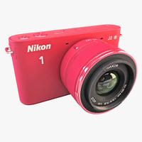 Nikon 1 J2 HD Digital Camera Red
