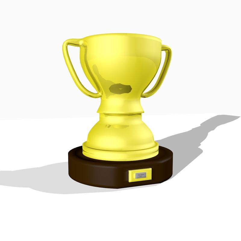 3d 1st place trophy model