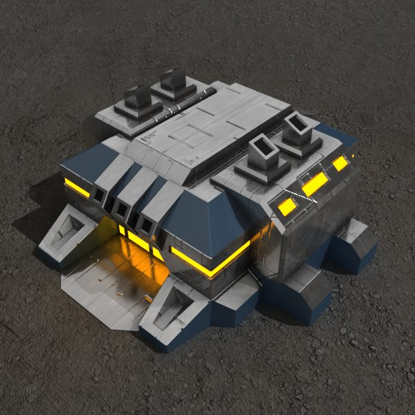 max factory sci-fi building