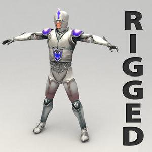 3d rigged fantasy hero model
