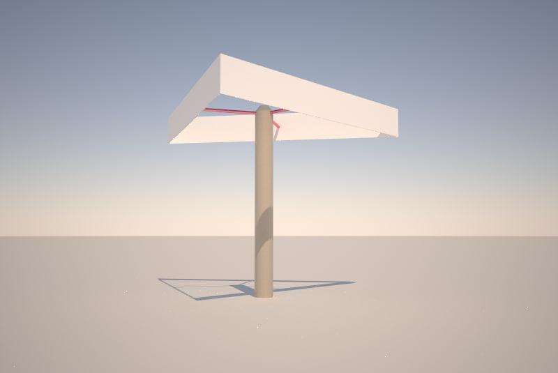 3d ad sign model