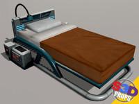 sci-fi bed 3d model
