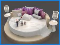 3d bed set bedroom model