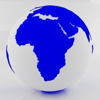 blue earth globe 3d max