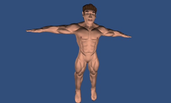 free buff man 3d model