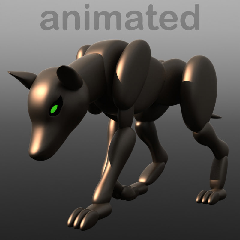 3ds max robot dog