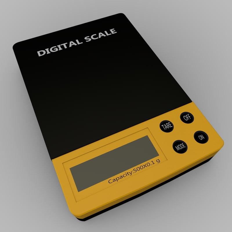 digital scale 3d model