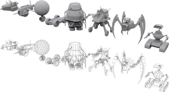 scrollers pod drones 3d model