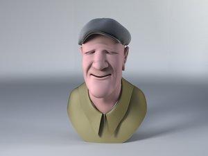 3d old man model