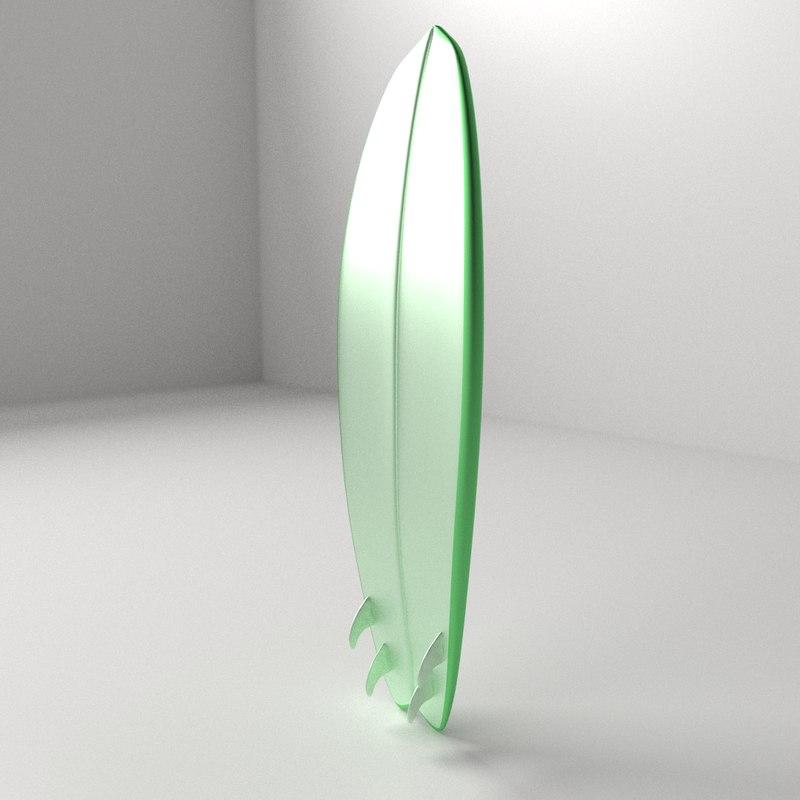 surfboard board surf 3d 3ds