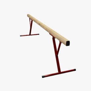 balance beam 3d model