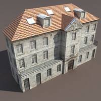 Apartment House #122 Low Poly 3d Model