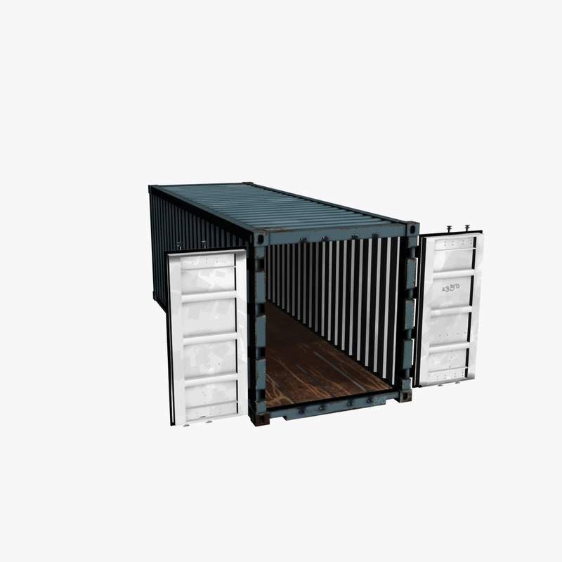 3d containers model