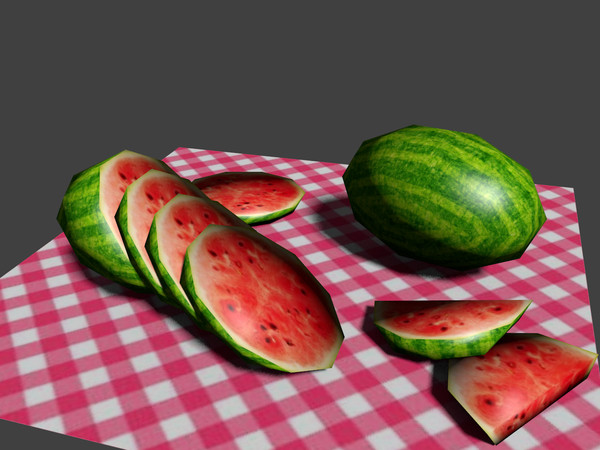 watermelon fruit 3d model