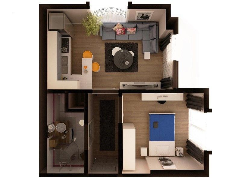 3d modern studio model