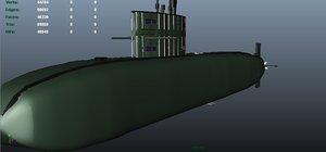 submarine 3d fbx