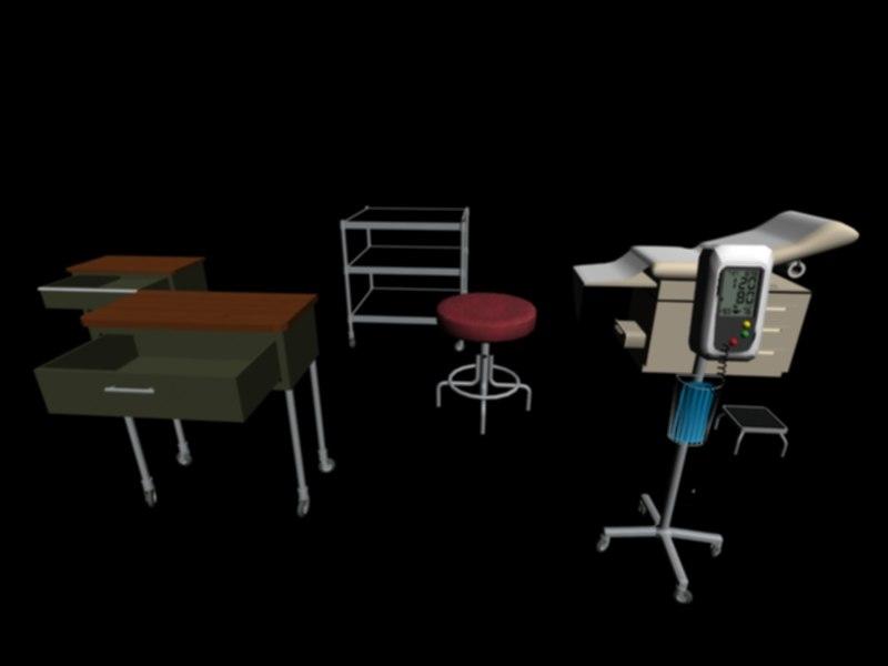 set doctors office 3d max
