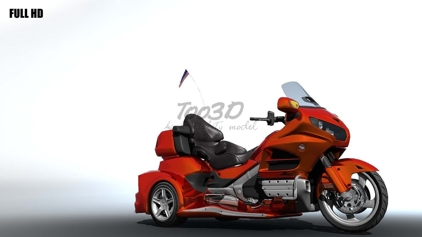 trike goldwing 3d c4d