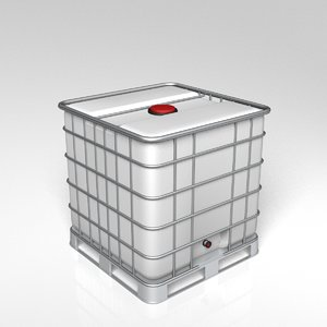 3d model water container